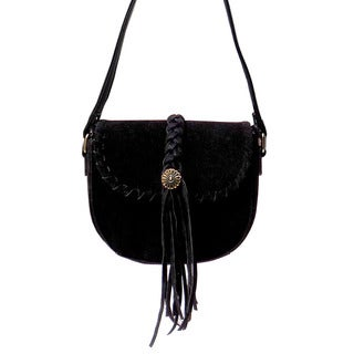 Olivia Miller 'Nelly' Whipstitch Bradied Fringe Crossbody handbag