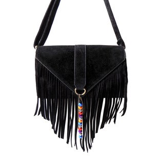 Olivia Miller 'Nora' Beaded Fringe Crossbody Handbag