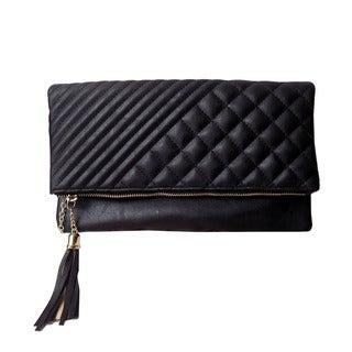 Olivia Miller 'Georgia' Quilted Trapunto Crossbody Clutch Handbag