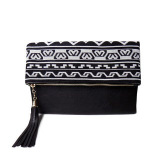 Olivia Miller 'Ayana' Printed Crossbody Clutch Handbag