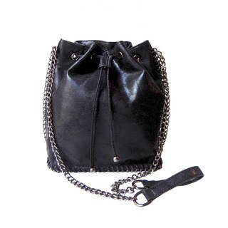 Olivia Miller 'Eliza' Shimmer Chain Bucket Handbag