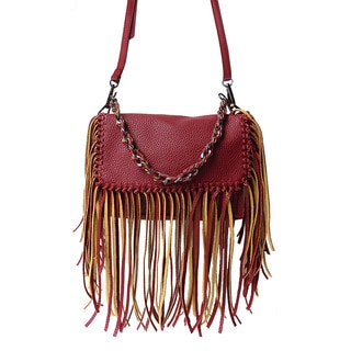 Olivia Miller 'Avril' Mini Fringe Chain Crossbody Handbag