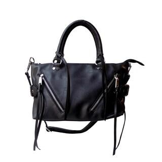 Olivia Miller 'Arlene' Dual Zip Satchel Handbag