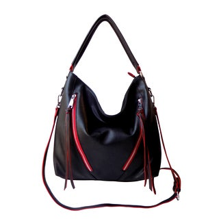 Olivia Miller 'Carly' Dual Zip Hobo Shoulder Handbag