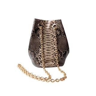 Olivia Miller 'Dahlia' Patent Snake Mini Bucket Handbag