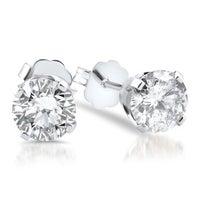 14k White Gold 1 2ct Tdw Diamond Stud Earrings
