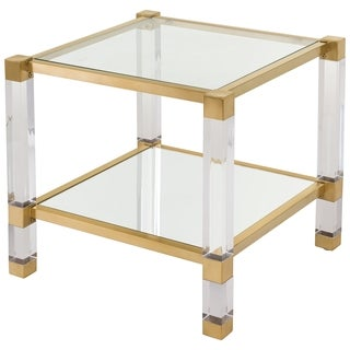 Safavieh Couture High Line Collection Angie Bronze Brass Acrylic End Table