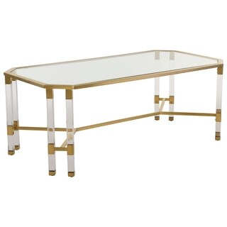 Safavieh Couture High Line Collection Chandon Bronze Brass Acrylic Coffee Table