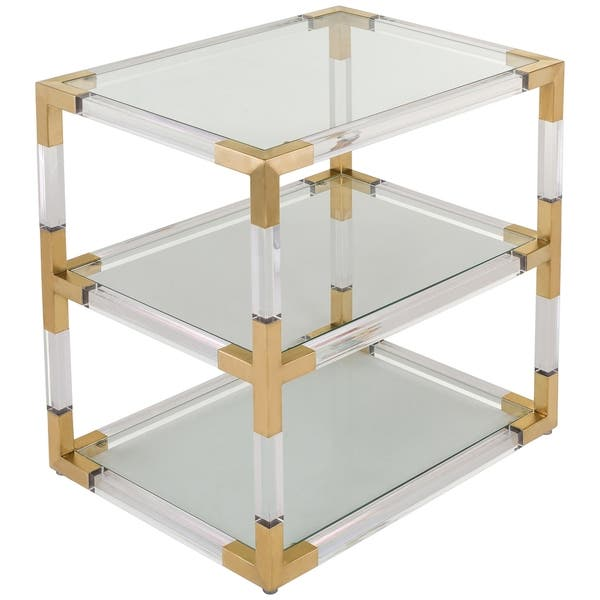 Amazing Safavieh Couture High Line Collection Louisa Bronze Brass Acrylic End Table Andrewgaddart Wooden Chair Designs For Living Room Andrewgaddartcom