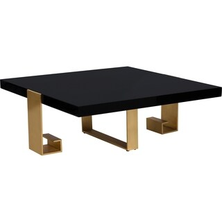 Safavieh Couture High Line Collection Roya Black Lacquer Gold Leaf Coffee Table