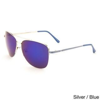GLO Men's Metal Aviator Color Mirror Sunglasses