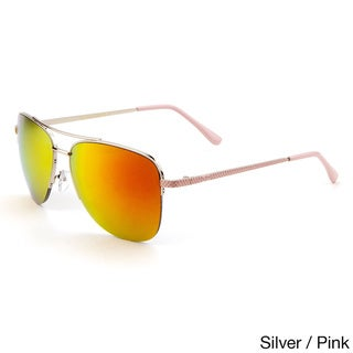 GLO Men's Metal Aviator Color Mirror Sunglasses