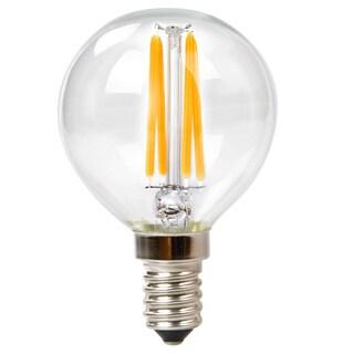 Goodlite G-83411 3.5W Filament LED G16.5 Globe Candelabra Base Dimmable 400 Lumens = 40 Incandescent Bulb (Pack of 10)