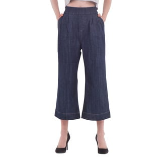 Women's Rinse Wash Ankle Culotte Denim