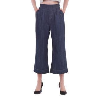 Women's Rinse Wash Ankle Culotte Denim|https://ak1.ostkcdn.com/images/products/11188565/P18180415.jpg?impolicy=medium