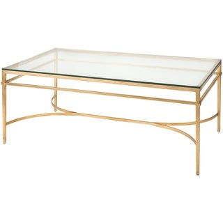 Safavieh Couture High Line Collection Abelard Antique Gold Gilt Cocktail Table