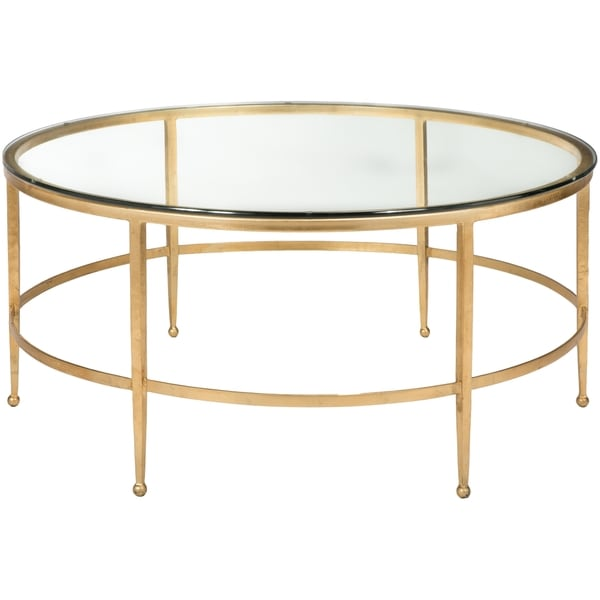 Antique Gold And Glass Coffee Table: Safavieh Couture High Line Collection Edmund Antique Gold