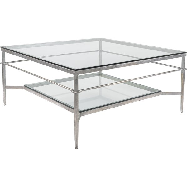 Safavieh Couture High Line Collection Mieka Silver Leaf Silver Cocktail  Table