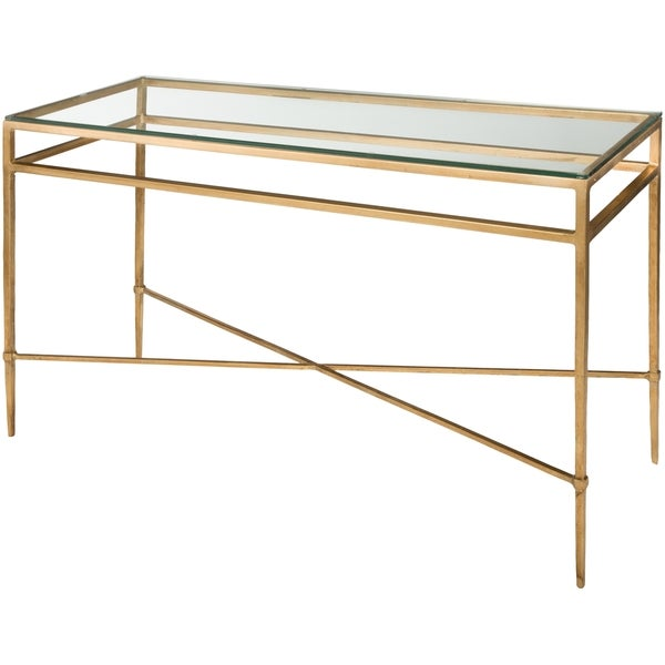 Safavieh Couture High Line Collection Baumgarten Antique Gold Gilt Console  Table