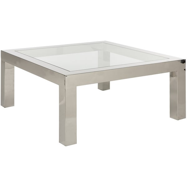 safavieh couture high line collection dmitri stainless steel coffee table
