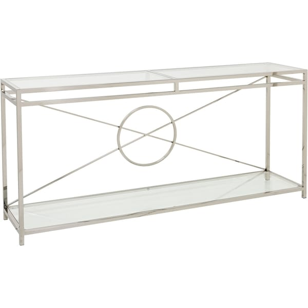 Safavieh Couture High Line Collection Zara Stainless Steel Console   Silver