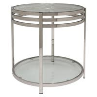 Safavieh Couture High Line Collection Malory Stainless Steel End Table - Silver
