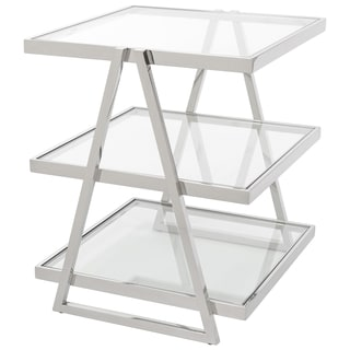 Safavieh Couture High Line Collection Sterling Stainless Steel 3-Tier End Table