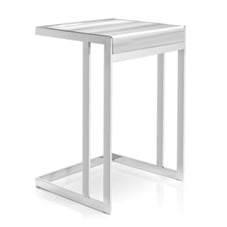 Safavieh Couture Collection Garret Straight White Marble Stainless Steel Smoking Table