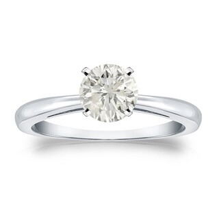 Auriya 14k Gold 3/4ct TDW Round-cut Diamond Solitaire Engagement Ring (More options available)