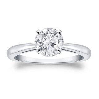 Auriya 14k Gold 1ct TDW Round Cut Diamond Solitaire Engagement Ring