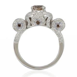 Suzy Levian 14k White Gold and 2 1/10ct TDW Brown/ White Diamond Engagement Ring|https://ak1.ostkcdn.com/images/products/11188791/P18180579.jpg?impolicy=medium