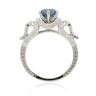 Suzy Levian 14k White Gold 1 7/8ct TDW Blue/ White Diamond Bridal Ring (5 options available)