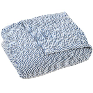 Windsor Home Chevron 100-percent Cotton Blanket