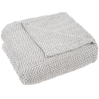 Windsor Home Chevron 100-percent Cotton Blanket (More options available)
