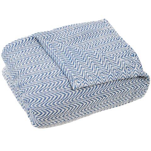 Windsor Home Chevron 100-percent Cotton Blanket