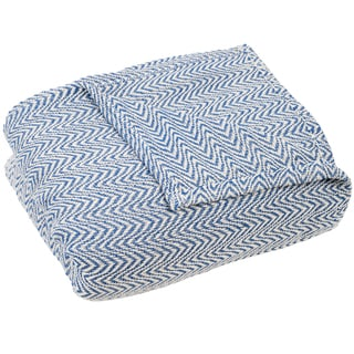 Link to Windsor Home Chevron 100-percent Cotton Blanket Similar Items in Blankets & Throws