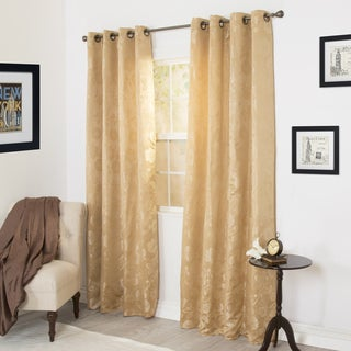 Windsor Home Cassia Jacquard 84-inch Curtain Panel Pair