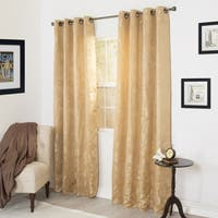 Windsor Home Cassia Jacquard 84-inch Curtain Panel Pair - 112 x 84