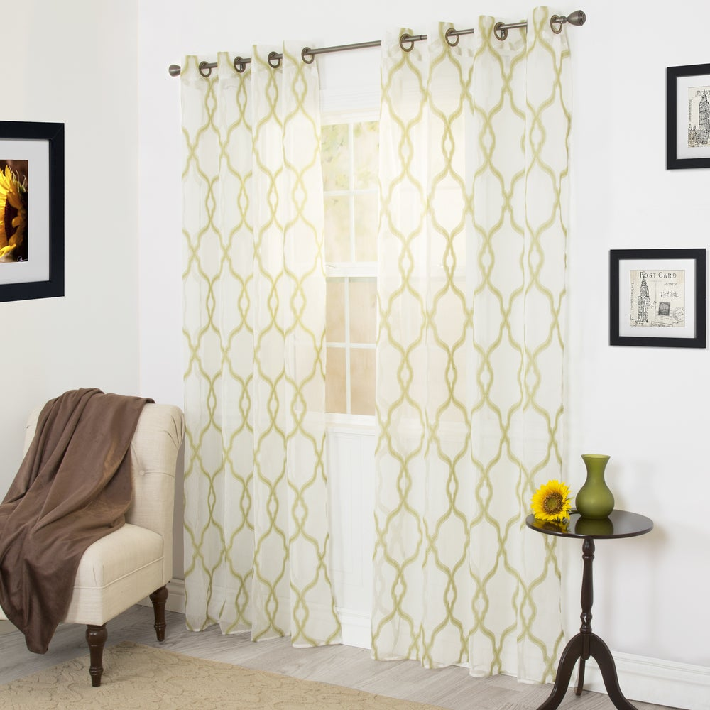 Shop Windsor Home Eleanor Embroidered Curtain Panel - 95 - 11188978