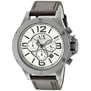 Armani Exchange Men's AX1519 'Wellworn' Chronograph Brown Leather Watch