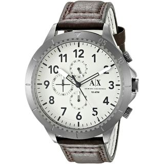 Armani Exchange Men's AX1757 'Aeroracer' Chronograph Brown Leather Watch