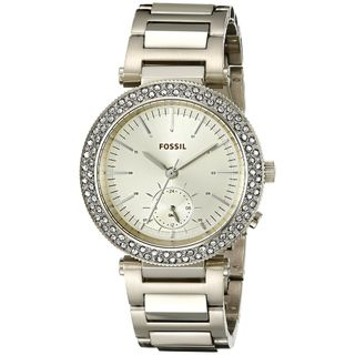 Fossil Women's ES3914 'Urban Traveler' Crystal Gold-Tone Stainless Steel Watch