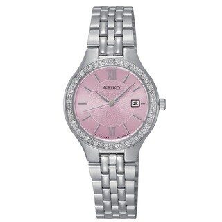 Seiko Women's Stainless Steel silverTone Water Resistant Watch with Austrian Crystals