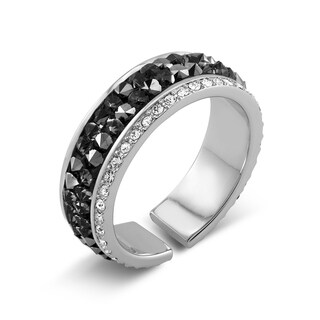 Rhodium-plated Preciosa Crystal Eternity Band