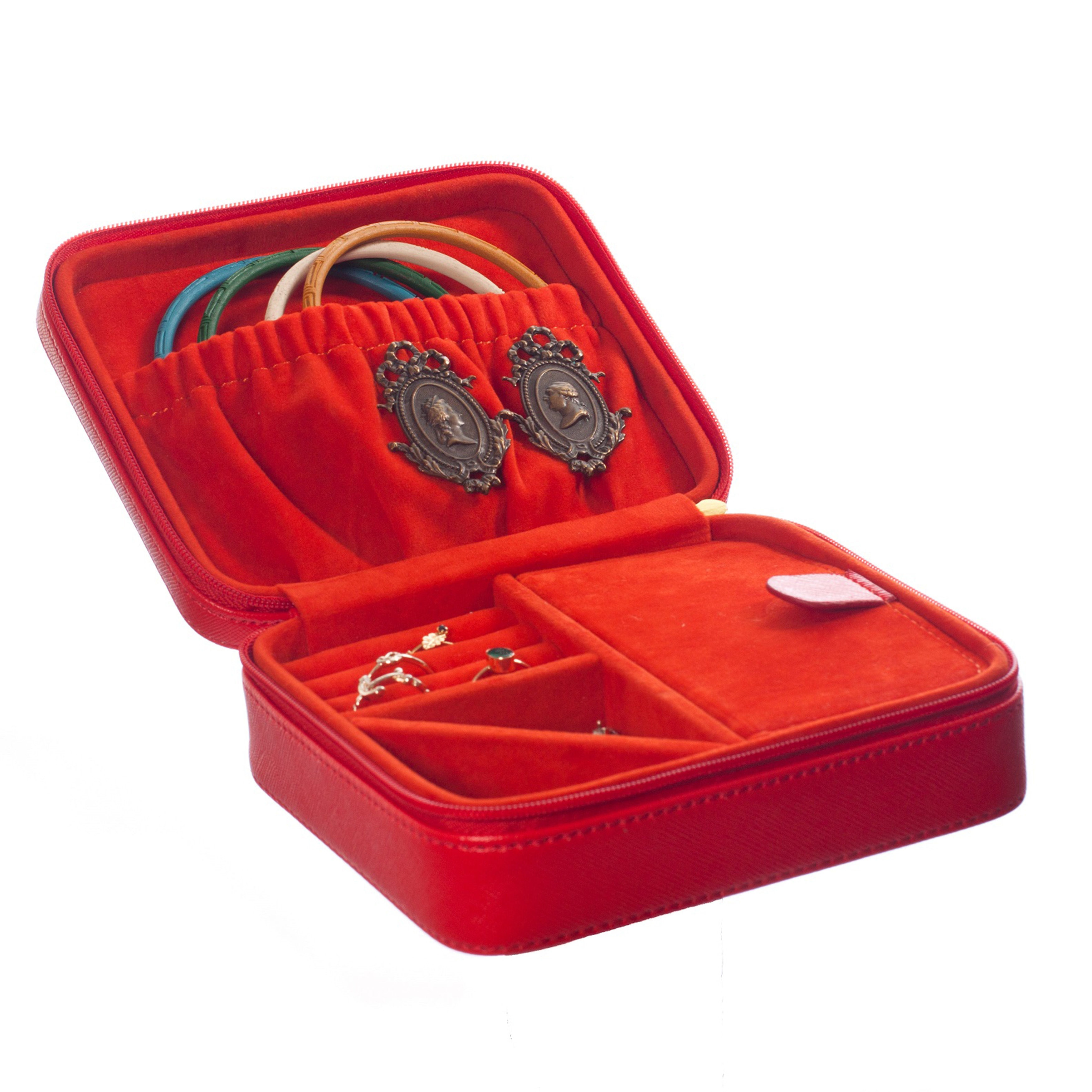 The Classy Case: Leather Jewelry Box Travel Case (Purple)