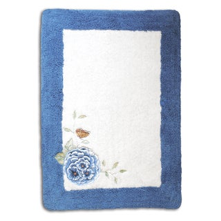 Lenox Butterfly Meadow Embroidered & Applique Tufted Bath Rug