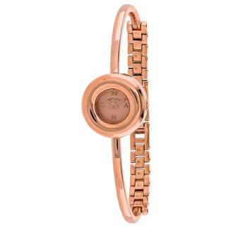 Marc Jacobs Women's MBM3446 Dinky Donut Round Rose Gold-tone Stainless Steel Bracelet Watch