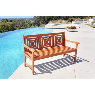Malibu Eco-friendly 5-foot Outdoor Hardwood Garden Bench