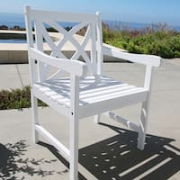 The Gray Barn Bluebird Eco-friendly Outdoor White Wood Garden Arm Chair
