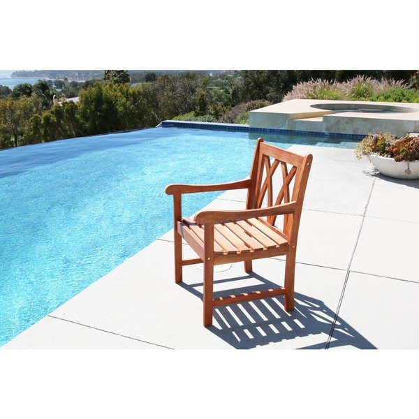 Surfside Eco-friendly Outdoor Hardwood Garden Arm Chair by Havenside Home. Opens flyout.